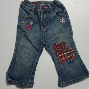 Baby Gap 12-18 months Jeans with pink patch